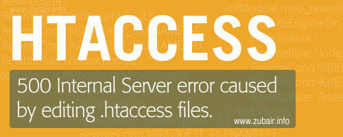 500 internal server error caused by editing htaccess file500 internal server error caused by editing htaccess file